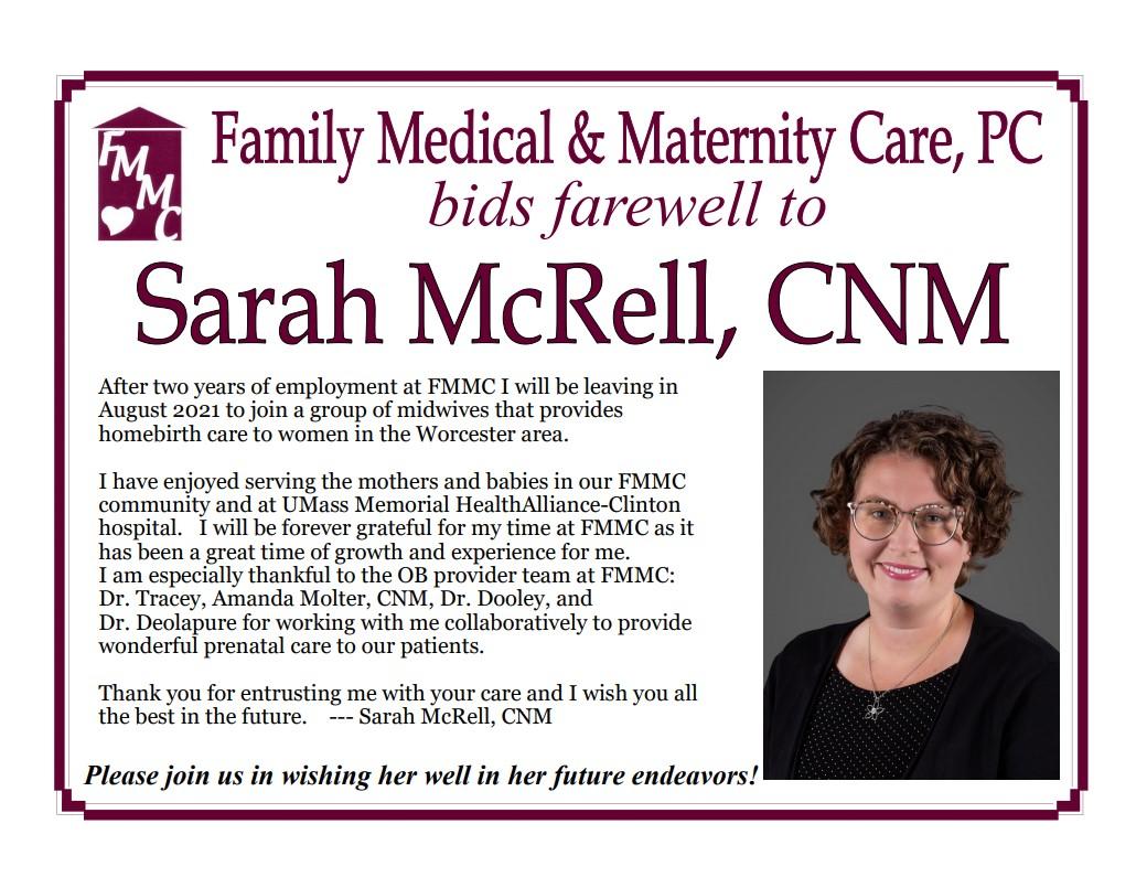 Sarah McRell, CNM